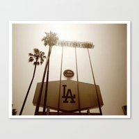 dodgers Canvas Prints featuring Los Angeles Dodgers  by Brandon Green