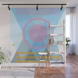 Bows and Mountains Wall Mural