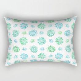 Trendy modern turquoise teal cute cactus pattern Rectangular Pillow