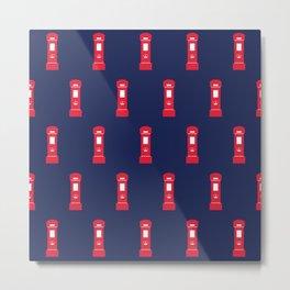 Red British post box Metal Print