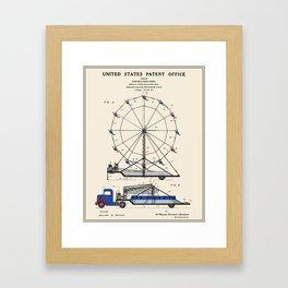 Ferris Wheel Patent Framed Art Print