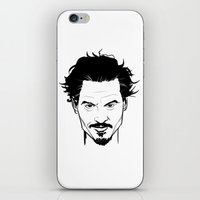 johnny depp iPhone & iPod Skins featuring Johnny Depp by Havard Glenne
