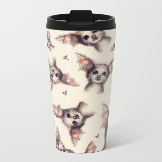 What the Fox - Pattern Metal Travel Mug