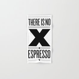 No X in Espresso – Black Hand & Bath Towel
