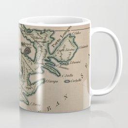 Vintage Elba Italy Map (1800) Coffee Mug