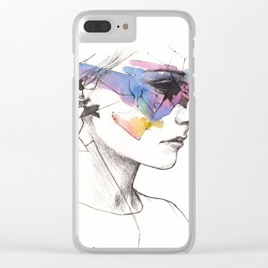 Woman With A New Vision Clear iPhone Case