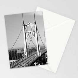 St. John's Bridge Portland Oregon Northwest steel suspension Cathedral Park Stationery Cards
