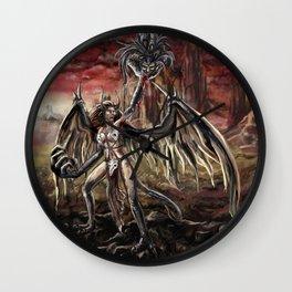 Demon Harpy Wall Clock