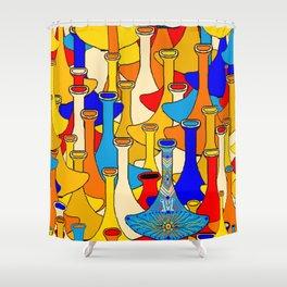 North African moroccan marrakesh hookah vases Shower Curtain