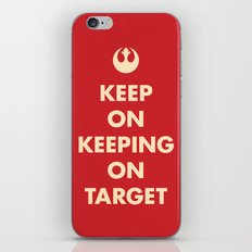 Keep On Keeping On Target (Red) iPhone & iPod Skin