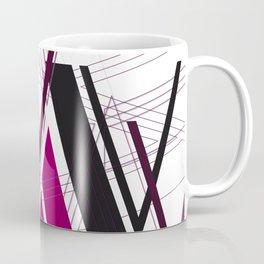 """Abstract Typography: Art Deco """"V"""" Coffee Mug"""