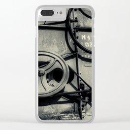 Grey Monstrosity Clear iPhone Case