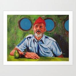 Bill Murray as Steve Zissou Art Print