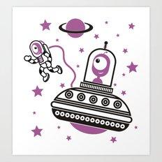 space Purple! Art Print