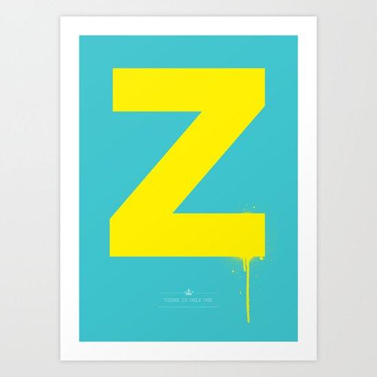 Z. Art Print