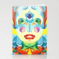 i woke up like this Stationery Cards featuring I Woke up like This by Anai Greog