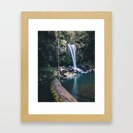 Hinterland Waterfall Framed Art Print
