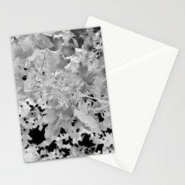Abstract Tree Landscape Dark Botanical Art Black Noir Stationery Cards