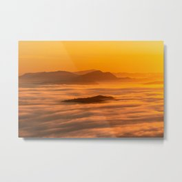 Sunrise colors and clouds Metal Print