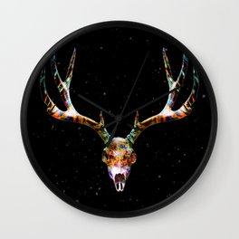 Deer Skull Art Wall Clock