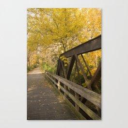 Fox River Bridge Canvas Print