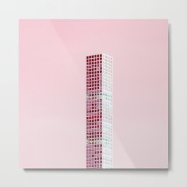 Pink Pillar Metal Print