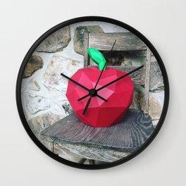 paper fruits portrait Wall Clock