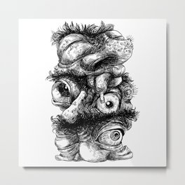 Graphic face Metal Print