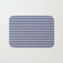 Blue Gray Stripes Bath Mat