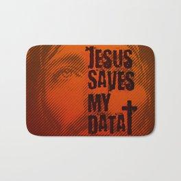 Jesus saves my data Bath Mat