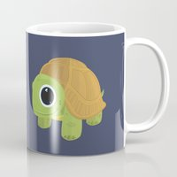 sea turtle Mugs featuring Turtle by Adamzworld