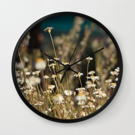 Field of Daisies - Floral Photography #Society6 Wall Clock