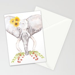 welcoming elephant Stationery Cards
