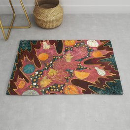 Abstract Halloween Harvest Rug