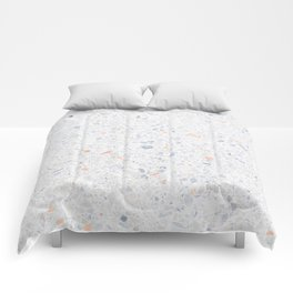 Natural Terrazzo Stone Stucture Pattern Pastel Comforters