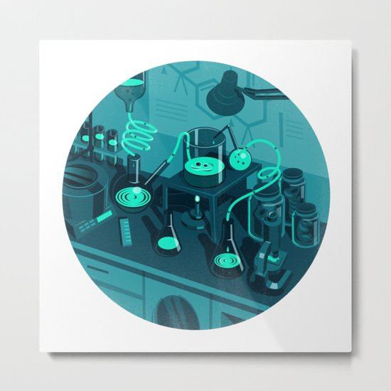 The Lab Metal Print