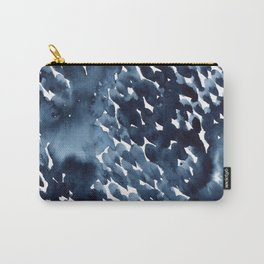 Watercolor dark abstract drops Carry-All Pouch