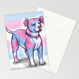 Gay Pride Pups Stationery Cards
