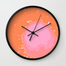 Splat on Orange - by Friztin Wall Clock