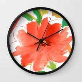 nasturtium floral Wall Clock