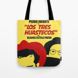 Los Tres Huastecos (Vintage Mexican Movie Poster Reimagination) Tote Bag