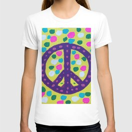 Colorful Abstract Peace Sign T-shirt