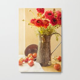 Round Reds Metal Print