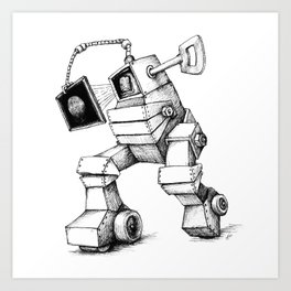 THUMBATRON for dark tees Art Print