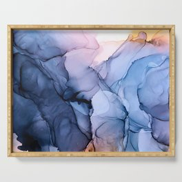 Captivating 1 - Alcohol Ink Painting Serving Tray