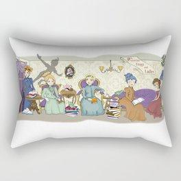 Victorian Frogs Rectangular Pillow