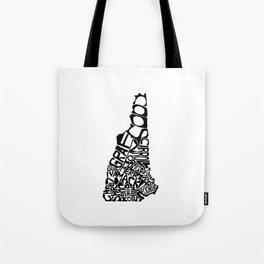 Typographic New Hampshire Tote Bag