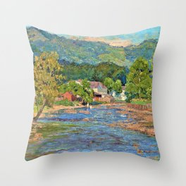 Landscape 1899 - Theodore Clement Steele Throw Pillow
