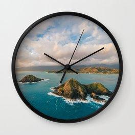 The Mokes and Lanikai Beach Wall Clock