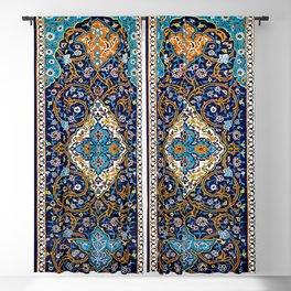 Orintal Persian Floral Mosaic Art Blackout Curtain